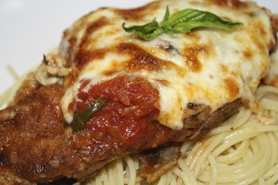 Chicken Parm on the side of your Spaghetti